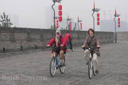 Biking around the city wall
