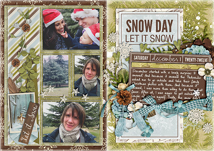 december daily, digital scrapbook album