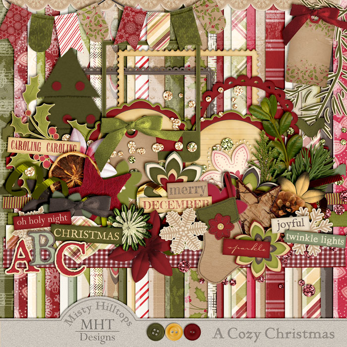 digital scrapbooking freebie, Misty Hilltops Designs
