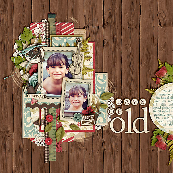 scrapbook layout, play