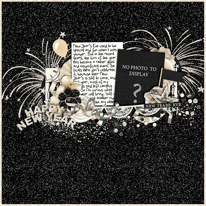 scrapbook layout, new year