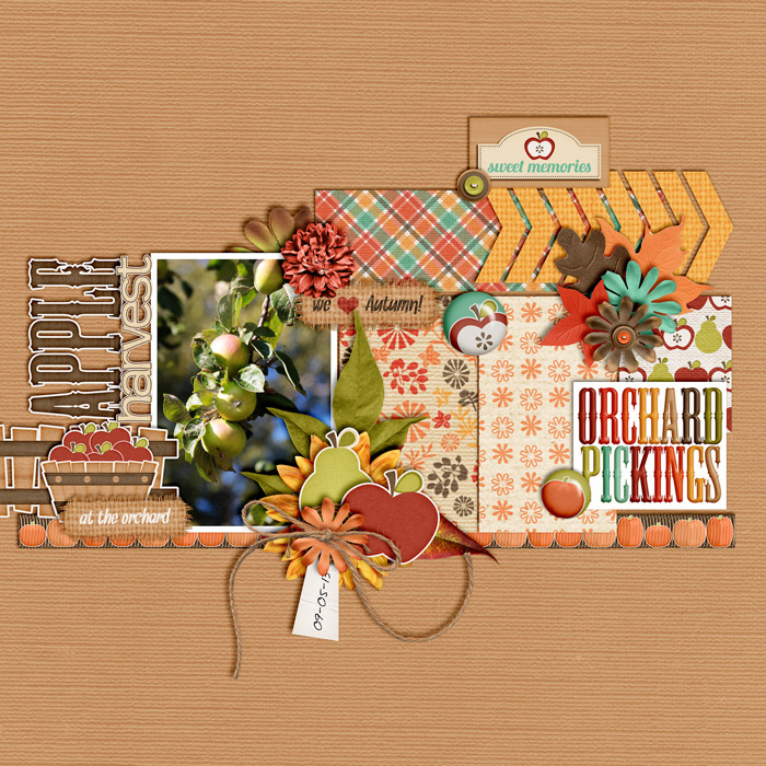 scrapbook layout, autumn, harvest
