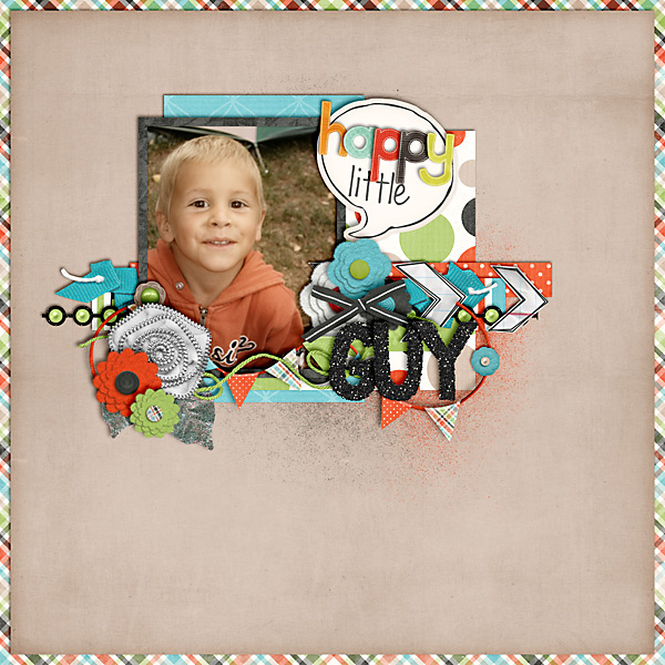 scrapbook layout, boy