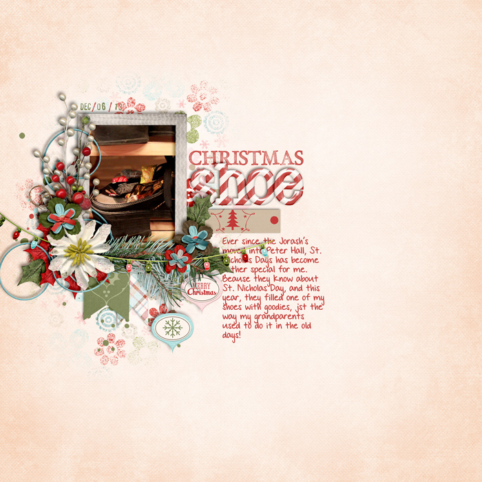scrapbook layout, christmas