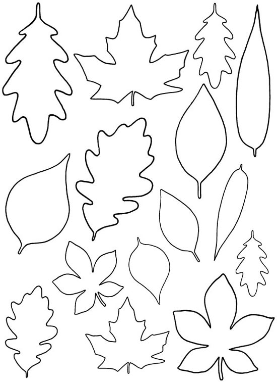 Enable me free paper leaf template mistyhilltops for Jungle leaf templates to cut out
