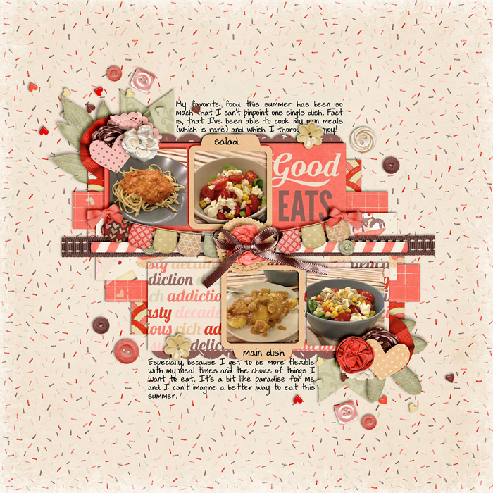 scrapbook layout, cooking, food