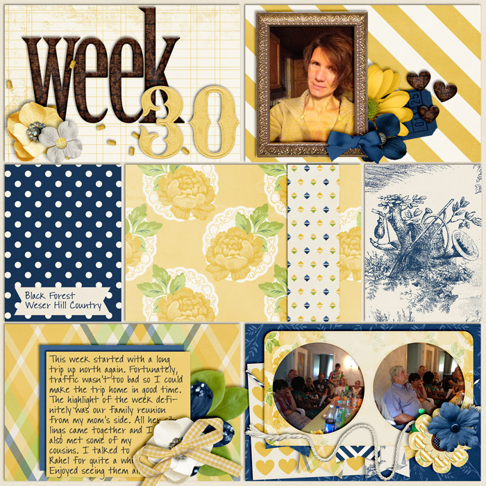 scrapbook layout, project life