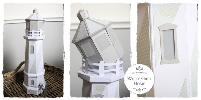 diy, lighthouse, silhouette cameo