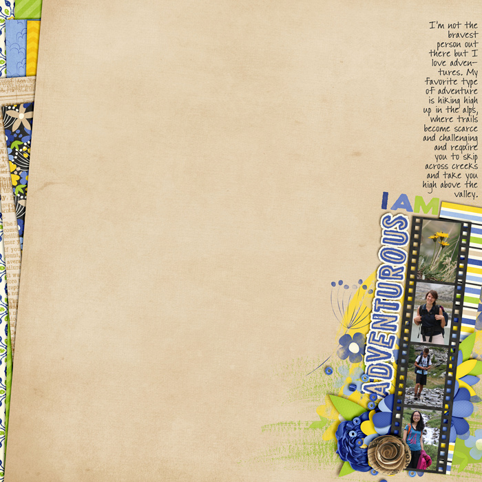 digital scrapbooking layout, outdoors