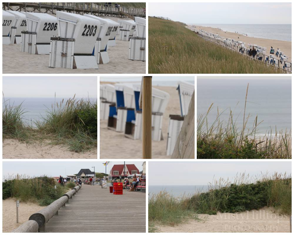 Westerland beach and on the way to Kampen Strand in Westerland und auf dem Weg nach Kampen