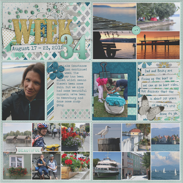 digital scrapbooking layout, project life