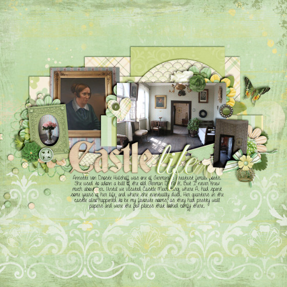digital scrapbooking layout