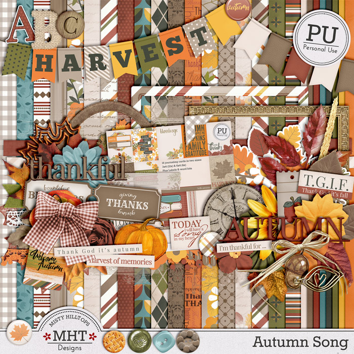 freebie friday, autumn, digital scrapbooking, Misty Hilltops Designs