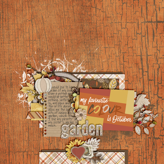 digital scrapbooking layout, journaling card, autumn