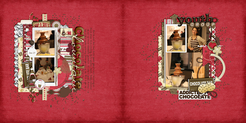 digital scrapbook, photo album, double page spread