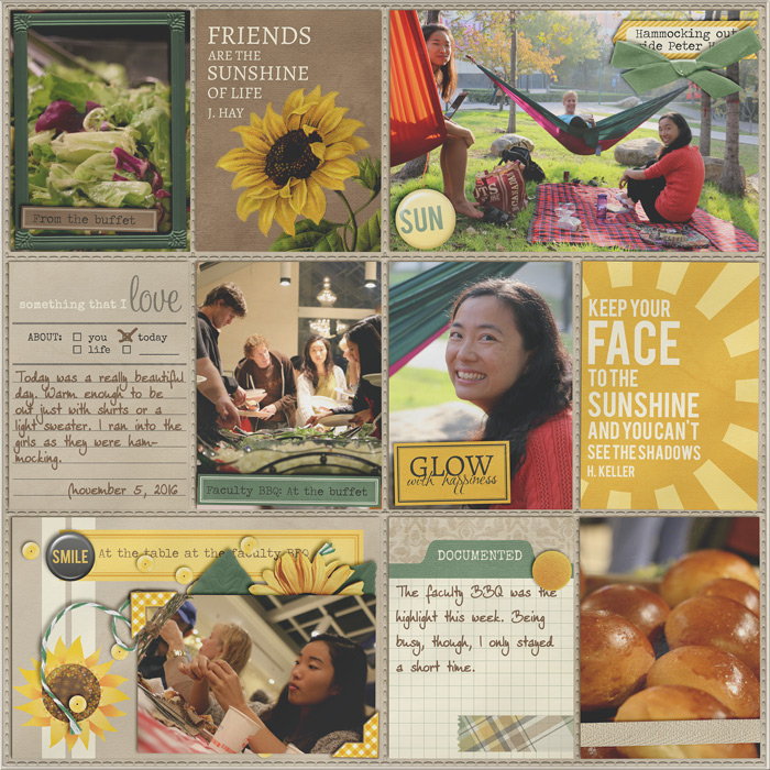 digital scrapbooking, project life, freebie, like sunshine