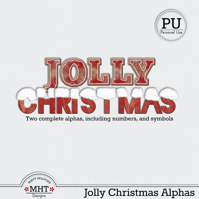 misty hilltops designs, christmas alpha freebie