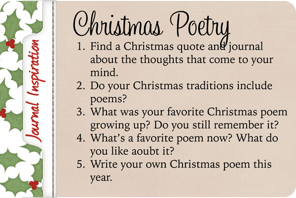 journal inspiration, writing prompts, christmas