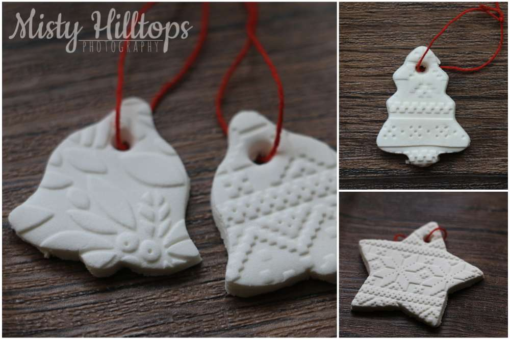 diy, white clay, ornament