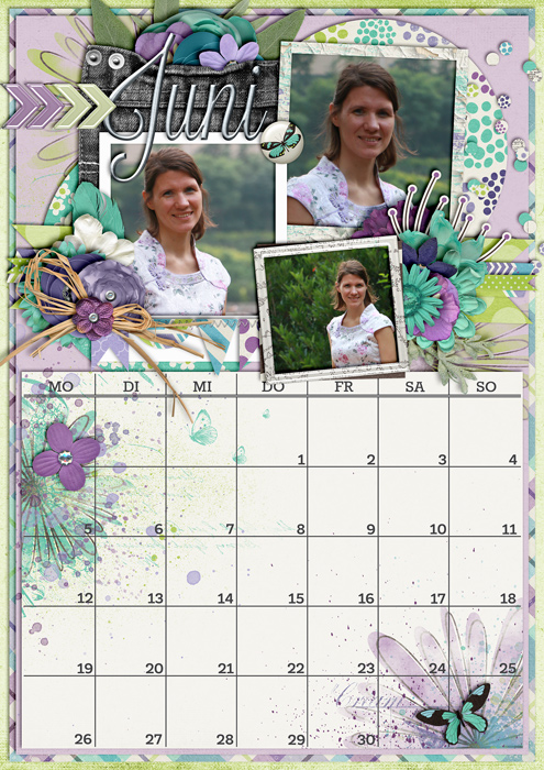 calendar 2017, digital scrapbook, misty hilltops designs
