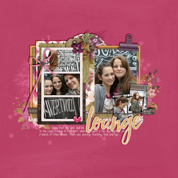 digital scrapbook layout, double page spread