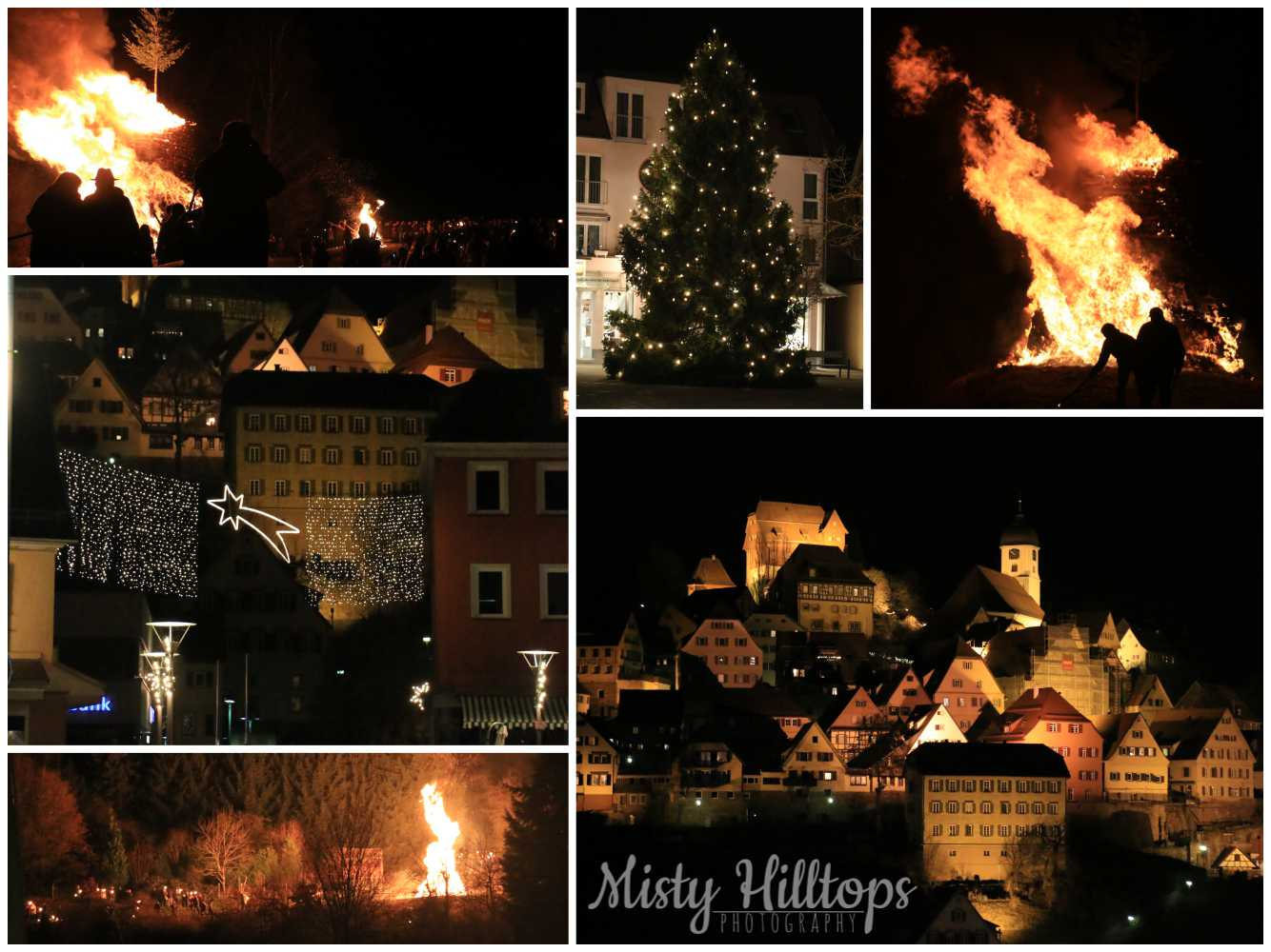 christmas, bonfire, altensteig