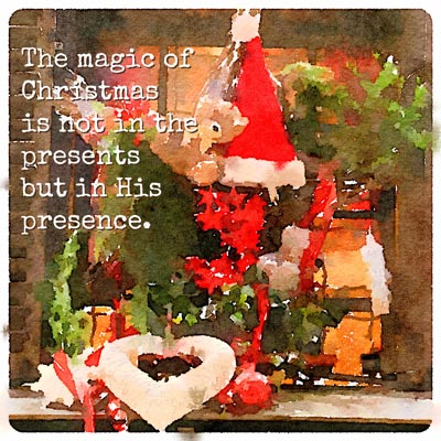 quote, christmas, presents, presence